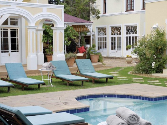 River Manor Boutique Hotel pool and gardens, Cape Winelands (upgrade option)