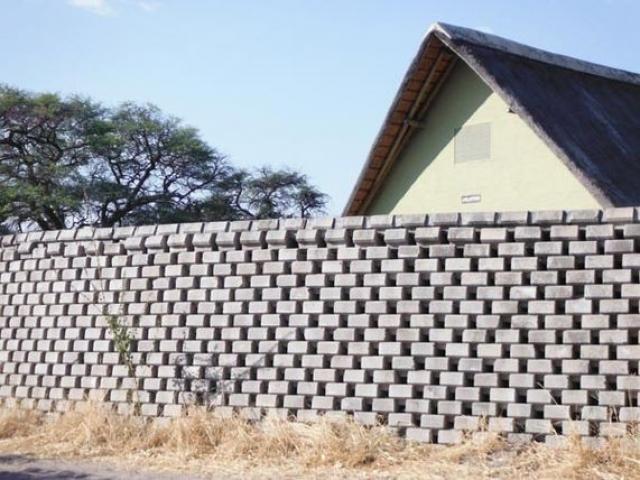 Elephant proof toilet block, Savute, Chobe National Park, Botswana