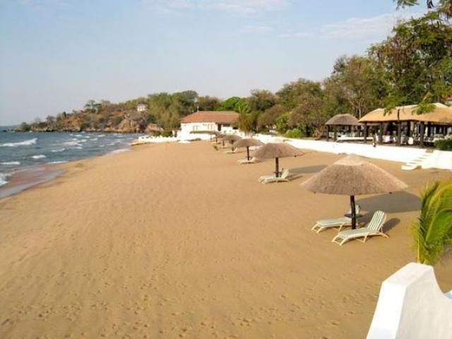 Sunbird Livingstonia Beach Hotel, Lake Malawi beachfront, Malawi and Zambia