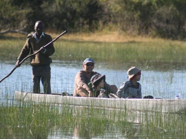 Gliding on a mekoro,  Okavango Delta, Botswana