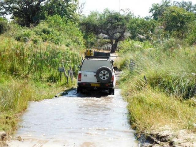 Third Bridge river crossing, Moremi Game Reserve, Botswana