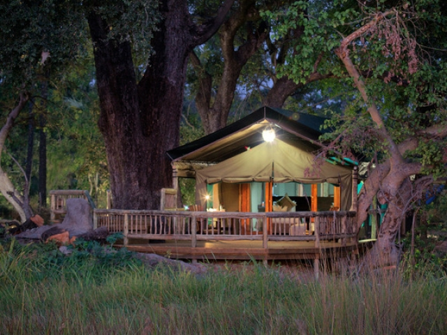 Gunn's Camp, Safari Tent overlooking the river