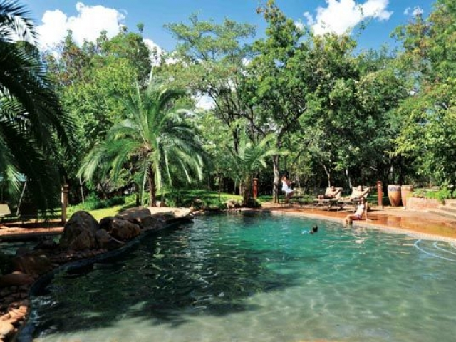 Pool area, Lokuthula Lodge, Victoria Falls, Zimbabwe