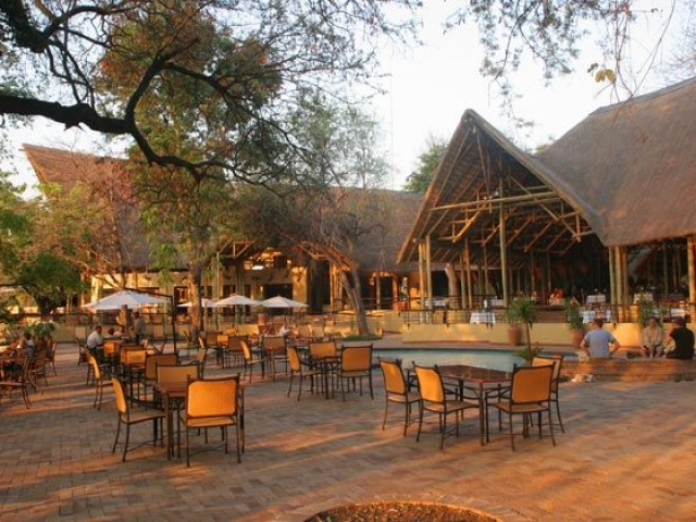 Chobe Safari Lodge restaurant and pool, Victoria Falls & Chobe