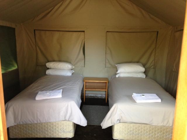 Interior of safari tent - Skukuza, Kruger National Park