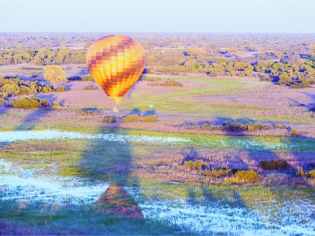 Kadizora Camp, Hot Air Ballooning over the Delta