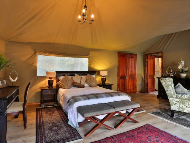 Kadizora Camp, Safari Tent (Interior)
