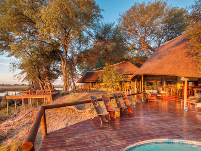 Kwando Lagoon Camp, Lounge & Pool