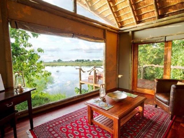 Kwando Lagoon Camp, Safari Tent Lounge