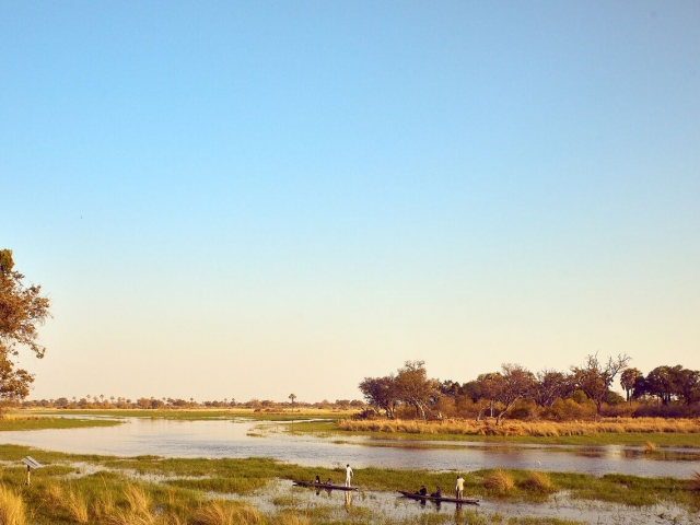 Nothing beats a mokoro trip in the Okavango Delta!
