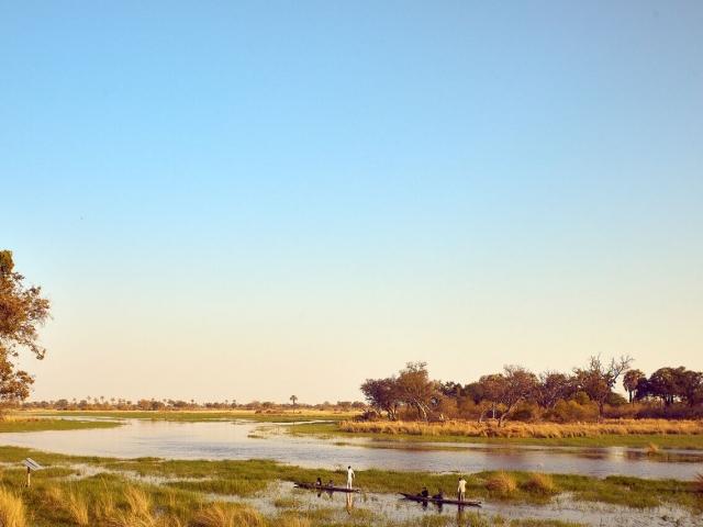 Nothing beats a mokoro trip in the Okavango Delta!