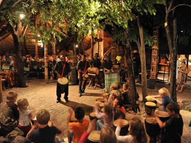 The Boma, dinner and drumming show, Victoria Falls package