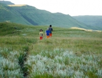 Hiking in the Drakensberg Mountains, South Africa