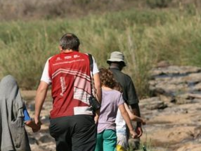 On a short walk with an armed ranger from South Africa National Parks in Kruger National Park