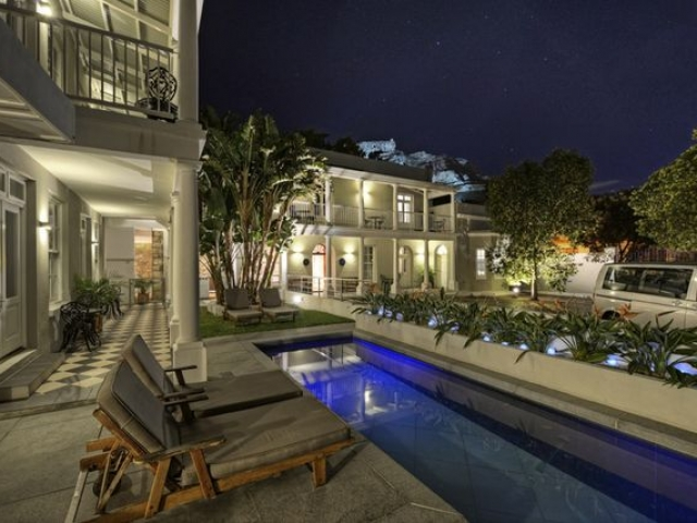 Three Boutique Hotel with Table Mountain at night, Cape Town (upgrade option)