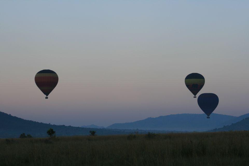 Hot air ballooning in Pilansberg National Park, South Africa