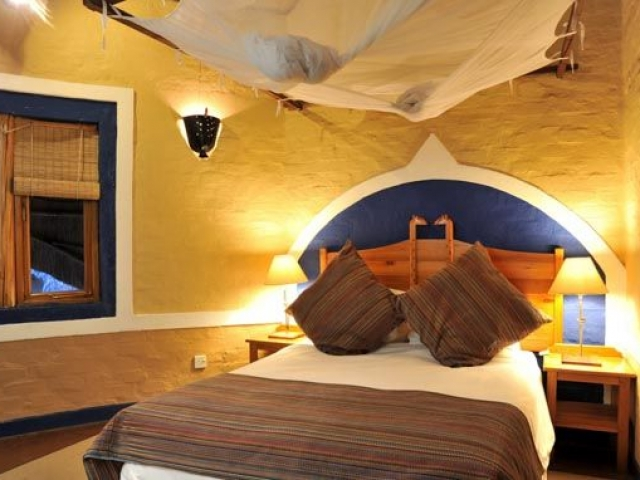 Lokuthula Lodge, suite bedroom, Victoria Falls Chobe family holiday