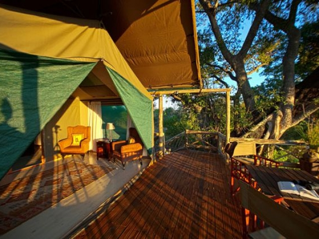 Pom Pom Camp, spacious safari accommodation, Botswana and Zimbabwe