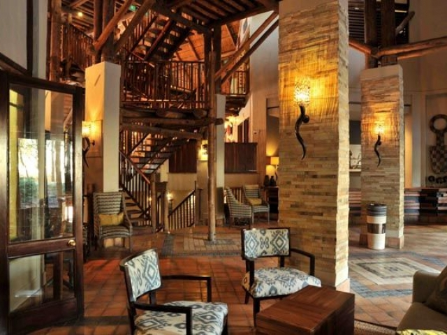 Victoria Falls Safari Lodge, reception area, Botswana and Zimbabwe