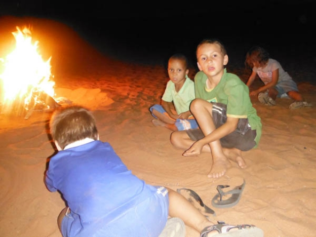Campfires are the best, especially this on on the perfect red Kalari sand