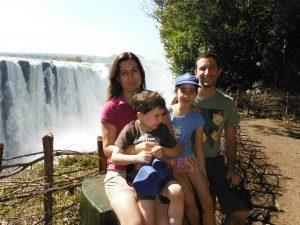 Venessa and Garry at Victoria Falls, Zimbabwe