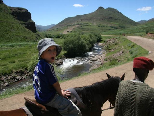 """""""Look at me"""" - Cadan loving pony trekking in eastern Lesotho"""