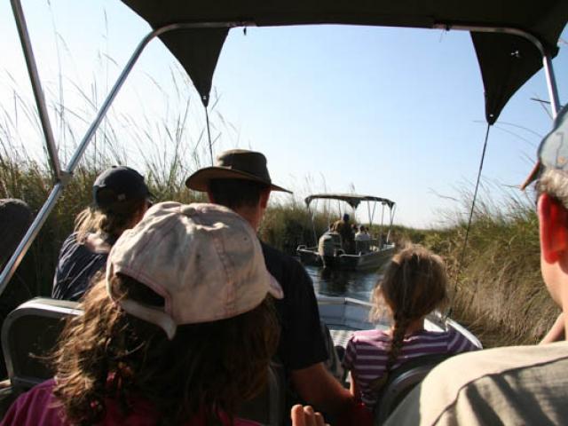 Boat trip on the amazing Okavango Delta, Moremi