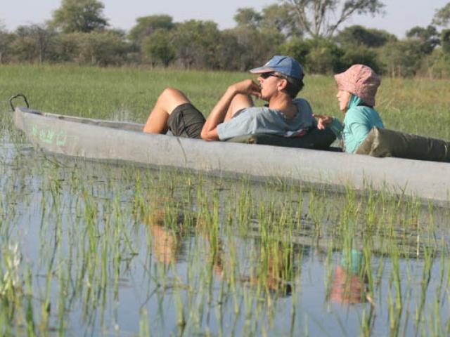 So relaxing - on a mekoro in the Okavango Delta,Botswana