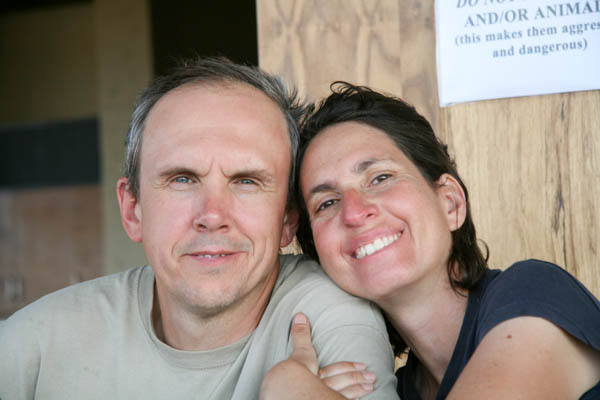 Chris and Sandie in southern Africa