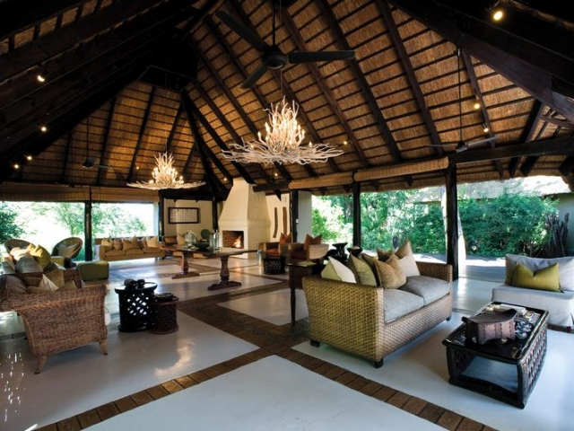Lion Sands River Lodge, Kruger National Park, main lounge, Kruger luxury safaris