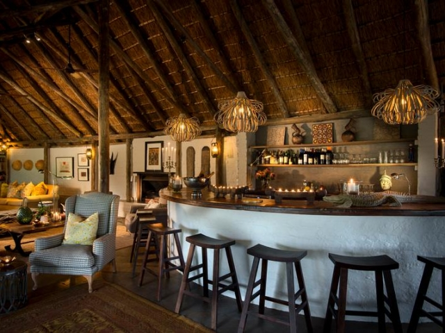 Tanda Tula Safari Camp, Kruger National Park, bar area, Kruger luxury safaris
