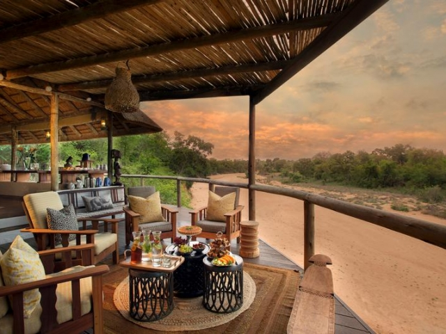 Tanda Tula Safari Camp, Kruger National Park, lounge deck with a view, Kruger luxury safaris