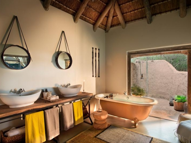 Tanda Tula Safari Camp, Kruger National Park, safari tent bathroom, Kruger luxury safaris
