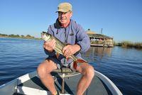 Geoff and a big tiger fish, Victoria Falls
