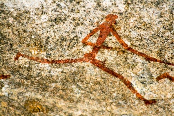 San bushman art, Matopos, Zimbabwe