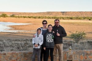 Shannon and Family at Mt Zebra, South Africa