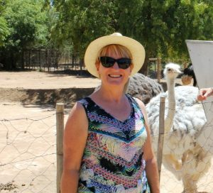 Jan at the Ostrich Farm