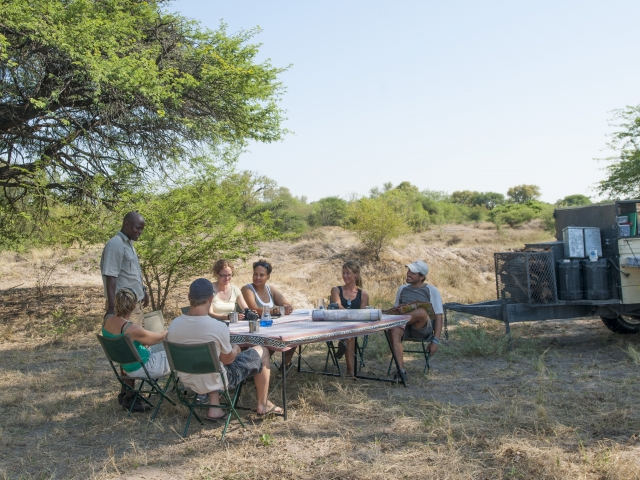 Custom built trailer - guided safari Botswana
