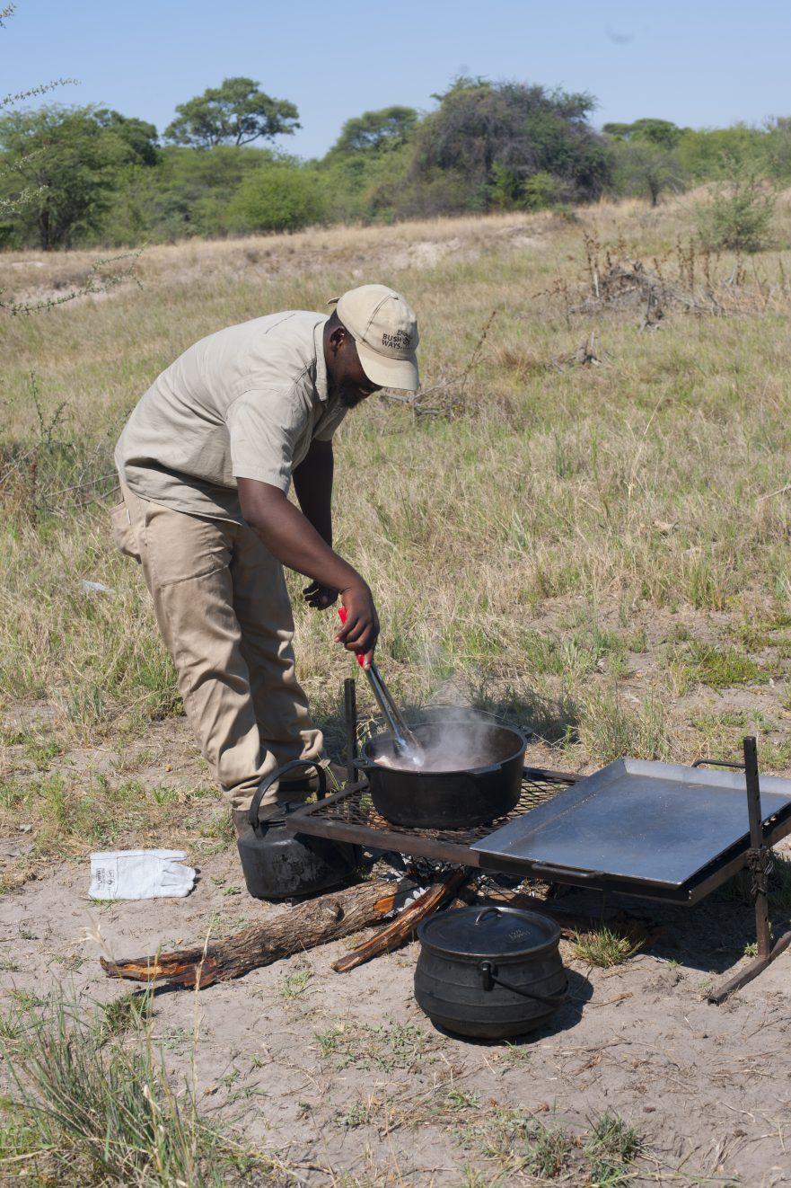 Highlights of Botswana, preparing dinner