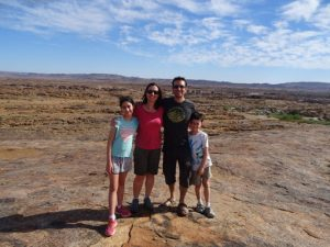 Ness, Garry and Family at Moon Rock, Augrabies Falls, South Africa