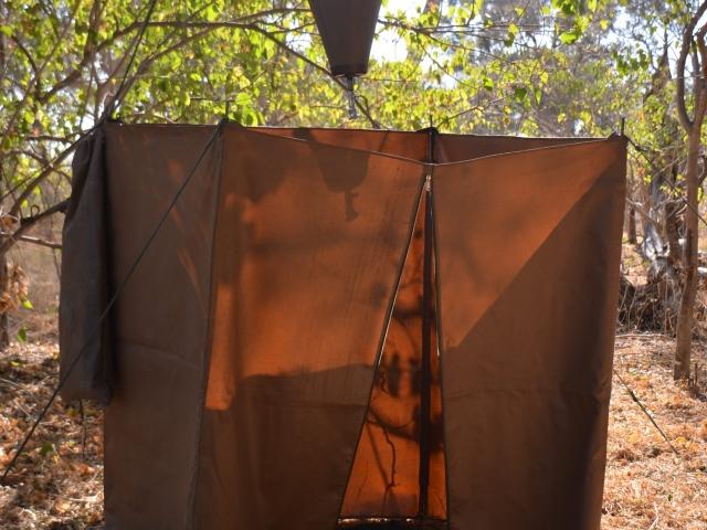 Camp shower -  - guided safari Botswana