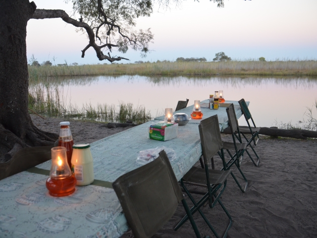 Dusk dinner -  - guided safari Botswana
