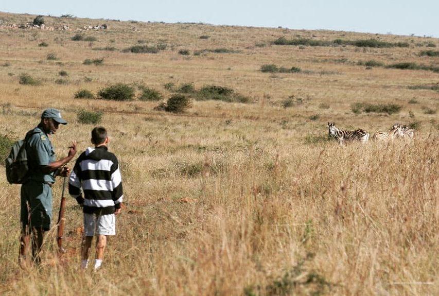 Walking safari in Itala, Kwa-Zulu Natal, South Africa