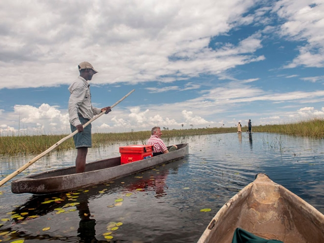 Okavango Delta mokoro safari