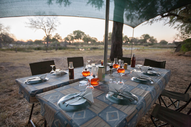 Essential Botswana, dining in the bush