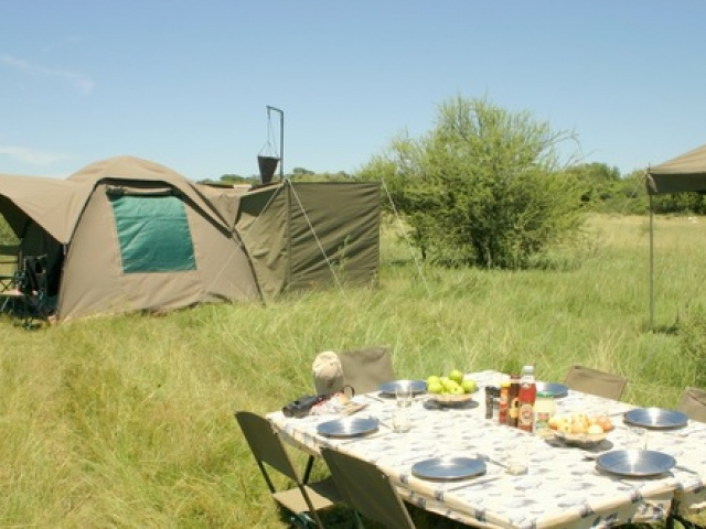 Essential Botswana, private campsites