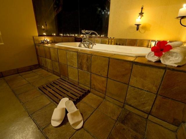 Elephant Plains Safari Lodge (Upgrade) - bathroom with a view