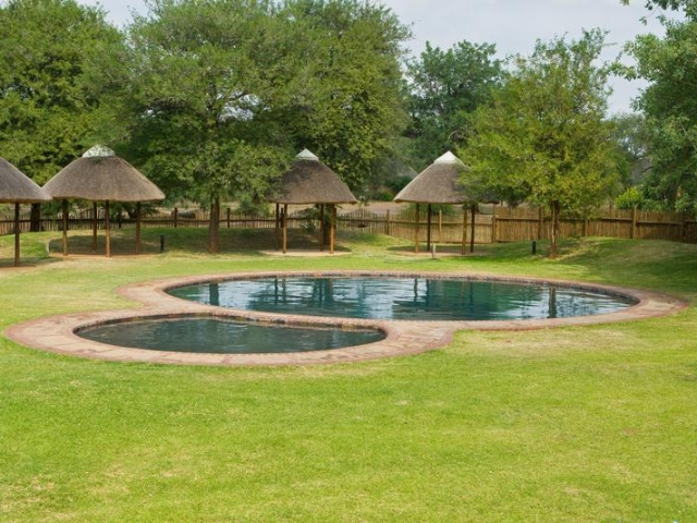 Family Holiday South Africa - Satara Restcamp swimming pool