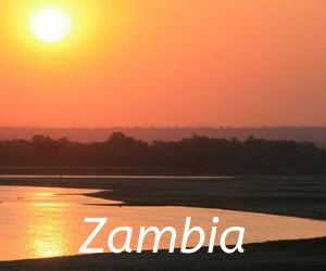 Travel itineraries southern Africa -Zambia, sunset