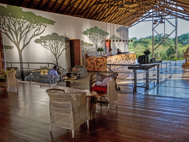 Reception, Chobe Bush Lodge, Botswana (Upgrade option)